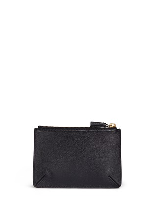Figure View - Click To Enlarge - Anya Hindmarch - 'Wink Loose Pocket' small leather zip pouch
