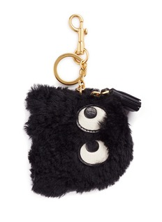 Anya Hindmarch 'Ghost' shearling coin pouch