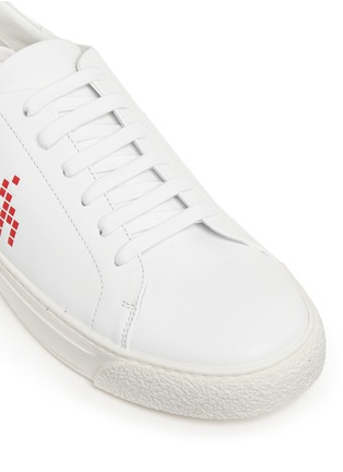 Detail View - Click To Enlarge - Anya Hindmarch - 'Space Invaders' embossed leather sneakers