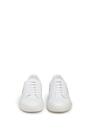 Front View - Click To Enlarge - Anya Hindmarch - 'Space Invaders' embossed leather sneakers