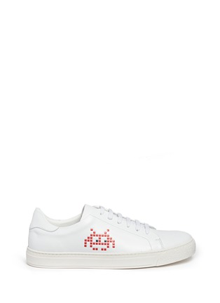 Main View - Click To Enlarge - Anya Hindmarch - 'Space Invaders' embossed leather sneakers