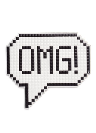 Main View - Click To Enlarge - Anya Hindmarch - 'OMG' oversized embossed leather sticker