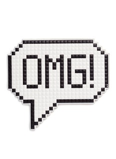 Anya Hindmarch 'OMG' oversized embossed leather sticker