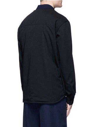 Back View - Click To Enlarge - Marni - Side split quilted wool bomber jacket