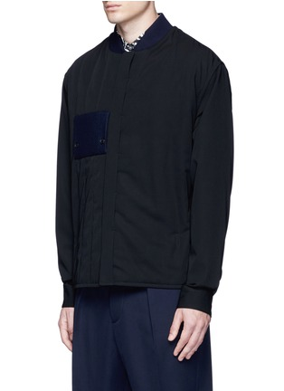 Front View - Click To Enlarge - Marni - Side split quilted wool bomber jacket