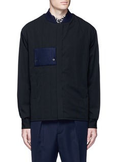 Marni Side split quilted wool bomber jacket