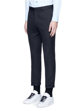Front View - Click To Enlarge - Marni - Slim fit rolled cuff pants