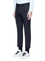 Slim fit rolled cuff pants