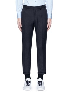 MarniSlim fit rolled cuff pants