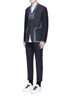 Marni Slim fit rolled cuff pants