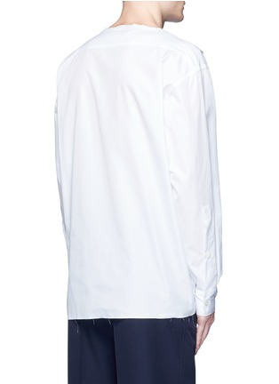 Back View - Click To Enlarge - Marni - Drape front cotton shirt