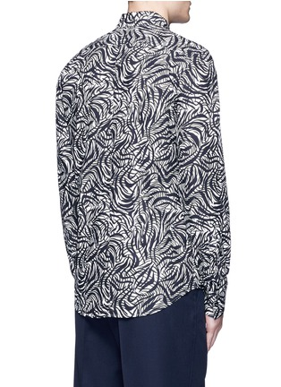 Back View - Click To Enlarge - Marni - Brushstroke print cotton shirt