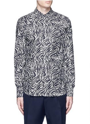 Main View - Click To Enlarge - Marni - Brushstroke print cotton shirt