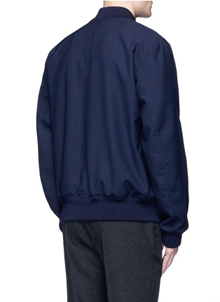Back View - Click To Enlarge - Marni - Wool gabardine bomber jacket