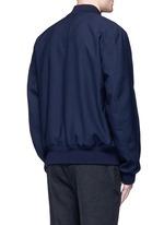 Wool gabardine bomber jacket