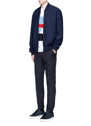 Figure View - Click To Enlarge - Marni - Wool gabardine bomber jacket