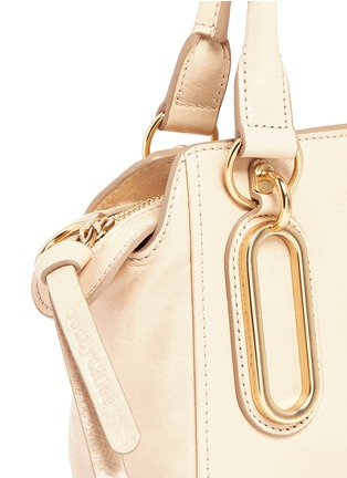 Detail View - Click To Enlarge - See by Chloé - 'Paige' mini smudged leather crossbody bag