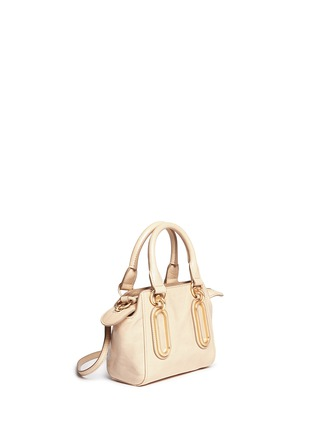 Front View - Click To Enlarge - See by Chloé - 'Paige' mini smudged leather crossbody bag