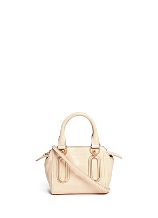Main View - Click To Enlarge - See by Chloé - 'Paige' mini smudged leather crossbody bag