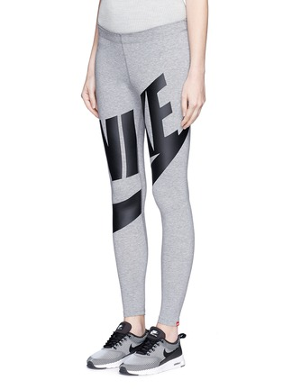 Front View - Click To Enlarge - Nike - 'Leg-A-See Exploded' logo print leggings