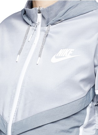 Detail View - Click To Enlarge - Nike - 'Bonded Windrunner' colourblock zip jacket