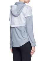 'Bonded Windrunner' colourblock zip jacket
