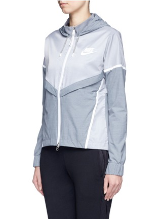 Front View - Click To Enlarge - Nike - 'Bonded Windrunner' colourblock zip jacket