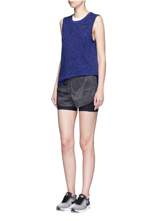 Figure View - Click To Enlarge - Nike - Abstract print cotton muscle tank top