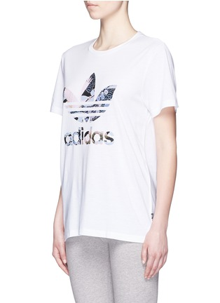 Front View - Click To Enlarge - Adidas - x Rita Ora scenic print T-shirt