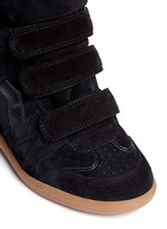 'Bekett' padded leather tongue suede sneakers