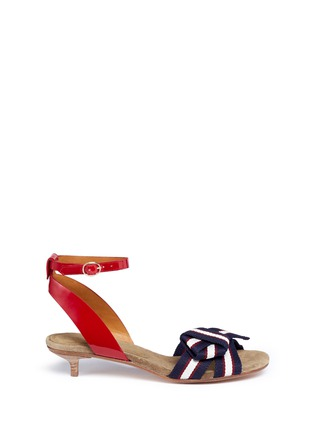 Main View - Click To Enlarge - Isabel Marant Étoile - 'Polly' knot grosgrain band patent leather sandals