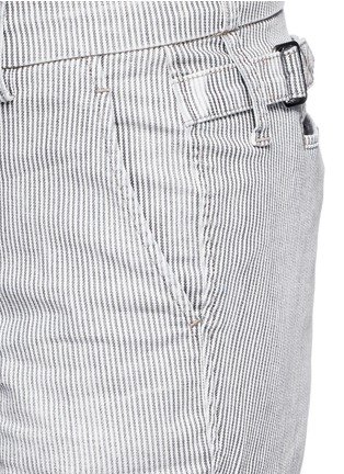 Detail View - Click To Enlarge - Vince - Stripe denim Bermuda shorts