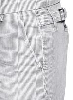 Stripe denim Bermuda shorts