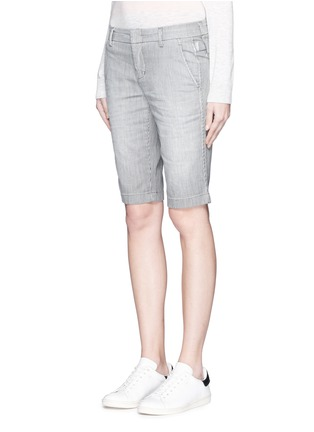 Front View - Click To Enlarge - Vince - Stripe denim Bermuda shorts