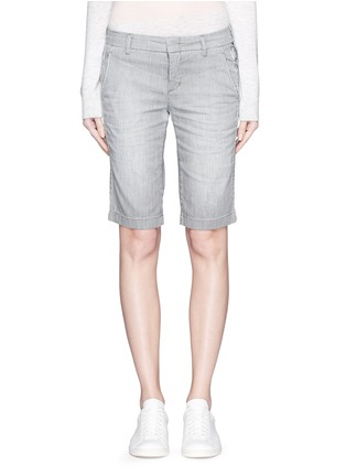 Main View - Click To Enlarge - Vince - Stripe denim Bermuda shorts