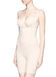 Spanx By Sara Blakely 'Thinstincts' open bust mid thigh bodysuit