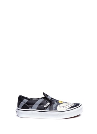 Main View - Click To Enlarge - Vans - x Disney 'Classic' Chesire Cat print canvas kids slip-ons