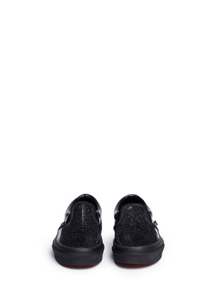 Figure View - Click To Enlarge - Vans - 'Classic Patent Galaxy' glittle leather kids slip-ons