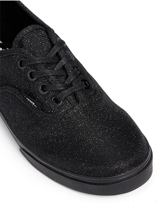 Detail View - Click To Enlarge - Vans - 'Authentic Lo Pro' glitter mesh kids sneakers
