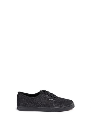 Main View - Click To Enlarge - Vans - 'Authentic Lo Pro' glitter mesh kids sneakers