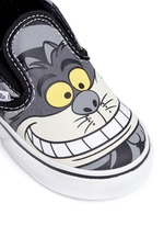 x Disney 'Classic' Chesire Cat print canvas toddler slip-ons