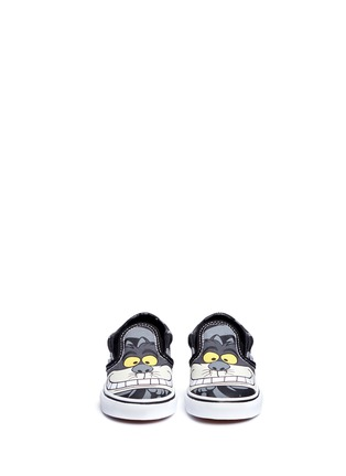 Figure View - Click To Enlarge - Vans - x Disney 'Classic' Chesire Cat print canvas toddler slip-ons