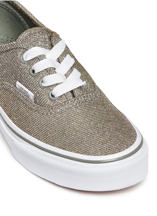 Detail View - Click To Enlarge - Vans - 'Authentic' glitter textile kids sneakers
