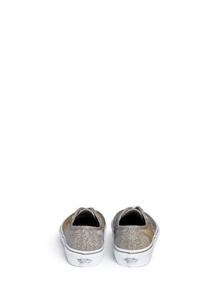 Back View - Click To Enlarge - Vans - 'Authentic' glitter textile kids sneakers