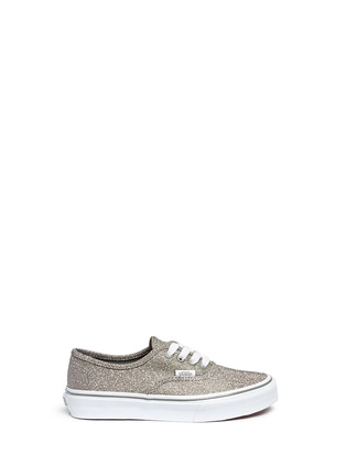 Main View - Click To Enlarge - Vans - 'Authentic' glitter textile kids sneakers