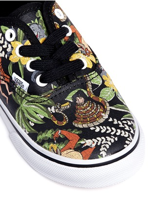 Detail View - Click To Enlarge - Vans - x Disney 'Authentic' The Jungle Book print canvas toddler sneakers