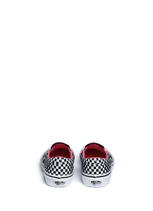 Back View - Click To Enlarge - Vans - 'Classic' heart and star print canvas kids slip-ons