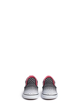 Figure View - Click To Enlarge - Vans - 'Classic' heart and star print canvas toddler slip-ons