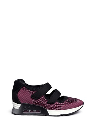 Main View - Click To Enlarge - Ash - 'Lulu' strap mix knit sneakers