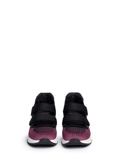 ASH'Lulu' strap mix knit sneakers